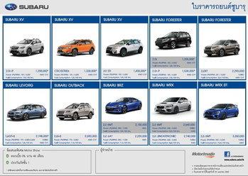 ใบราคา Subaru