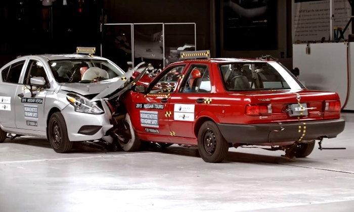 IIHS เผยคลิป Nissan Almera ทดสอบชนกับรถสมัย 20 ปีที่แล้ว
