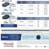 ใบราคา Honda