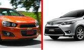 เปรียบเทียบ Toyota Vios และ Chevrolet Sonic