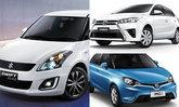 10 อันดับรถรุ่นท็อปราคาถูกที่สุดในปี 2017