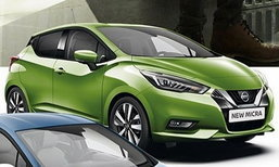 2017 Nissan March เผยบอดี้สีเขียวและสีฟ้าใหม่ล่าสุด
