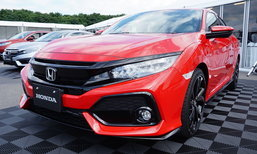 Honda Civic Hatchback 2017 สีแดง Rallye Red ของจริงสวยเว่อร์..!