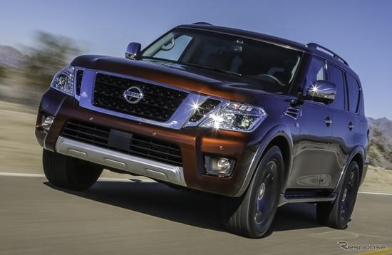2017 Nissan Armada เอสยูวีพื้นฐานกระบะใหม่เปิดตัวแล้วในสหรัฐฯ