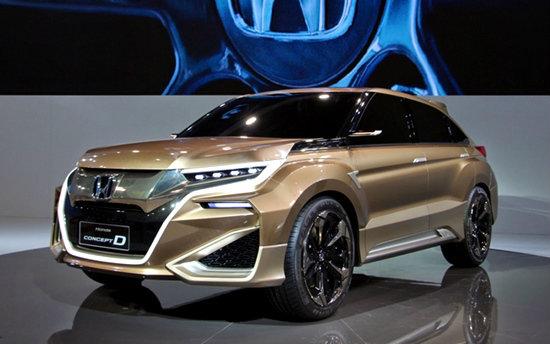 Honda Concept D เอสยูวีต้นแบบดีไซน์สุดล้ำเผยโฉมที่งานเซี่ยงไฮ้มอเตอร์โชว์ 2015