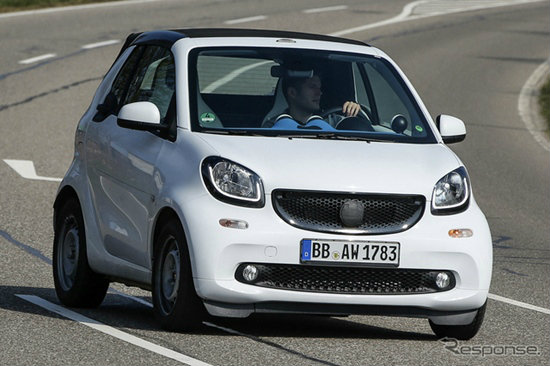 หลุด Smart ForTwo Cabriolet ใหม่ ก่อนเปิดตัวอย่างเป็นทางการที่แฟรงค์เฟิร์ต
