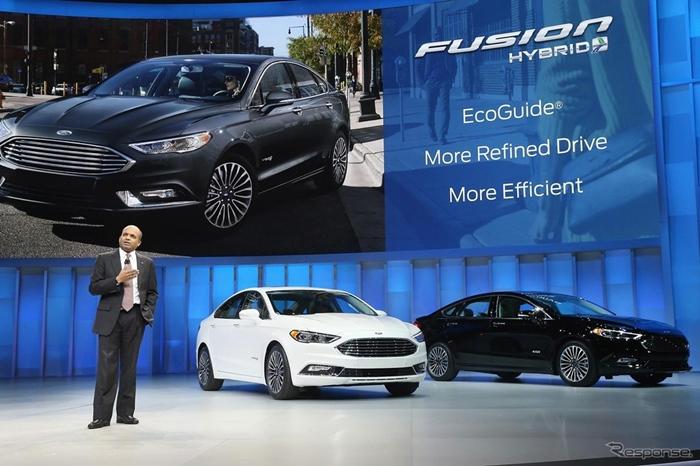 Ford Fusion 2017 ใหม่ คู่แข่งตรง 'คัมรี่' และ 'แอคคอร์ด' ถูกเปิดตัวอย่างเป็นทางการในสหรัฐฯ