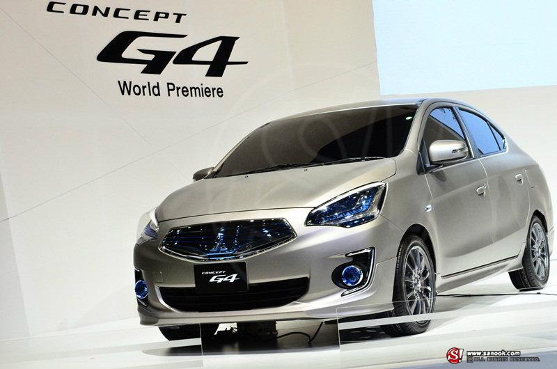 Mitsubishi G4 concept คันนี้เลยว่าที่ อีโค่คาร์ 4 ประตู มิตซูบิชิ
