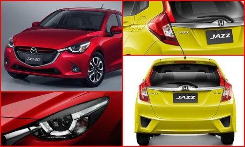 เทียบดีไซน์ Mazda2 2015 และ Honda Jazz 2014 ทั้งภายนอก-ภายใน