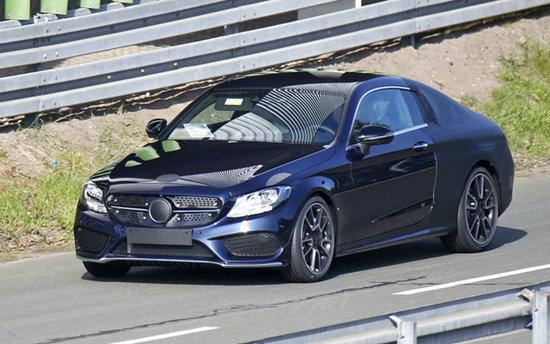 หลุด Mercedes-Benz C-Class คูเป้ ใหม่ ขณะพรางตัววิ่งทดสอบ