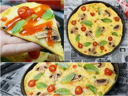 ##พิซซ่าไข่เจียวชีสกระทะร้อน ทั้งไข่ ทั้งชีส ฟินเฟ่อร์! มีสกิลแค่เจียวไข่เป็นก็ทำเมนูนี้ได้ by ChingCanCook ##