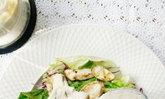 Tofu Sesame Salad : น้ำสลัดครีมเต้าหู้งาสูตรเจ กับเห็ดย่างร้อนๆจ้าาา ^^~