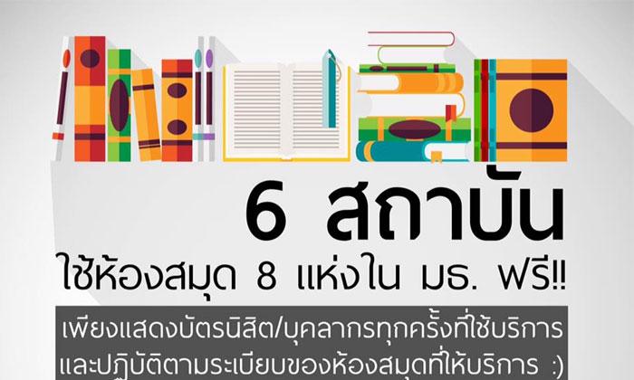 8 ห้องสมุดใน มธ.เปิดประตูให้นศ./บุคลากร 6 สถาบันความร่วมมือด้านประกันคุณภาพเข้าใช้ฟรี