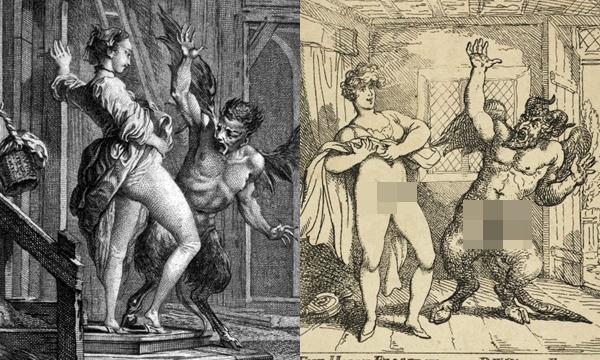 """ตำนานยุโรปโบราณว่ากันว่า """"ของลับผู้หญิง"""" สามารถไล่ปีศาจได้"""