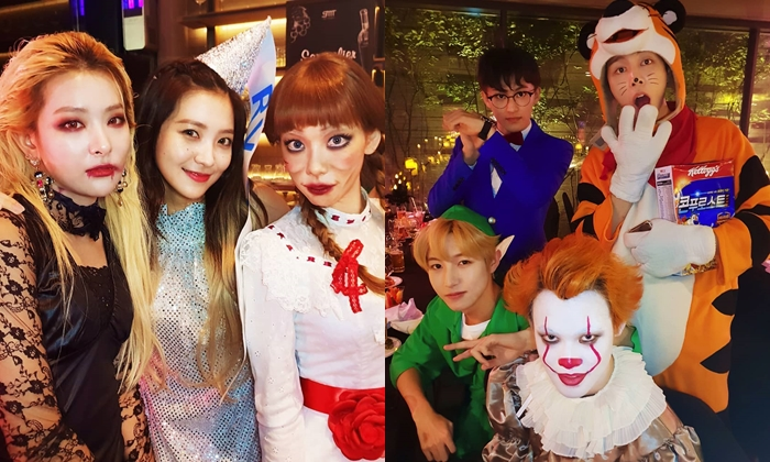 ส่องแฟชั่น ไอดอลเกาหลี ปาร์ตี้ฮาโลวีน SM 2018 แต่ละคนจัดเต็มมาก