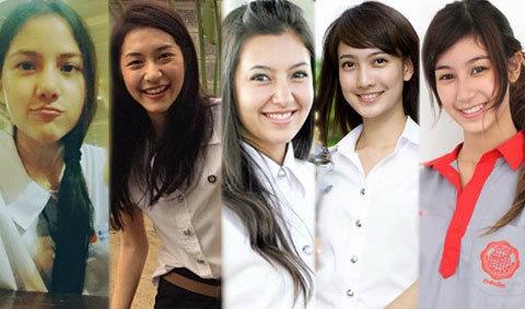 5 นางเอก สุภาพบุรุษจุฑาเทพ ในชุดนักเรียน