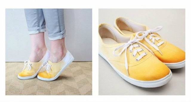 DIY รองเท้าผ้าใบแนวๆ มีคู่เดียวในโลก