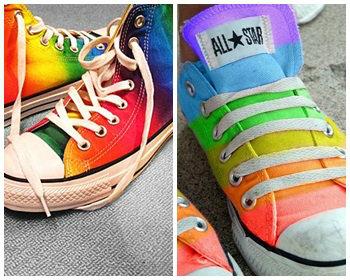 สดใสฟรุ้งฟริ้งกับรองเท้าลายเรนโบว์ (rainbow)