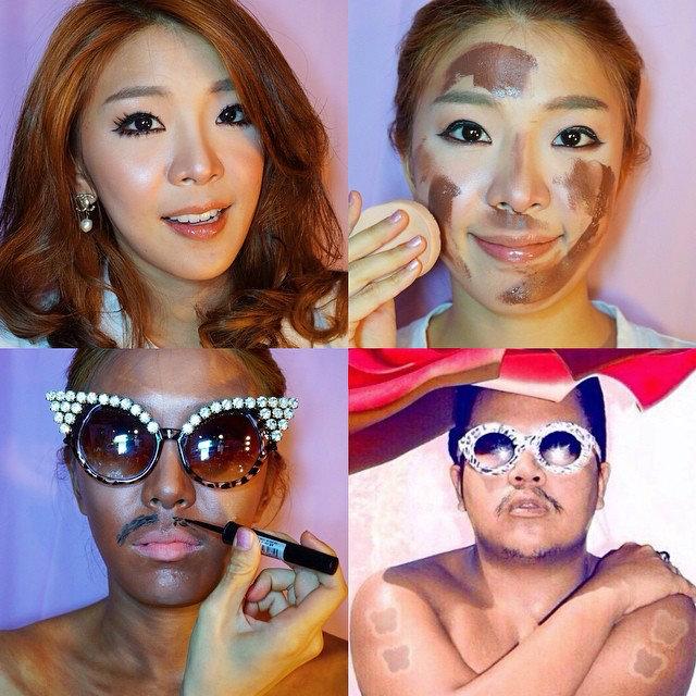 เทรนด์ใหม่มาแรง!  แต่งหน้าเลียนแบบคนดัง -makeuptransformation