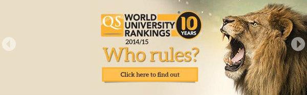 อันดับมหาวิทยาลัยโลกปี 2014/2015