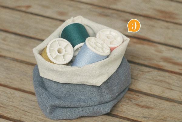 DIYถุงใส่ของวินเทจจากเสื้อตัวเก่า