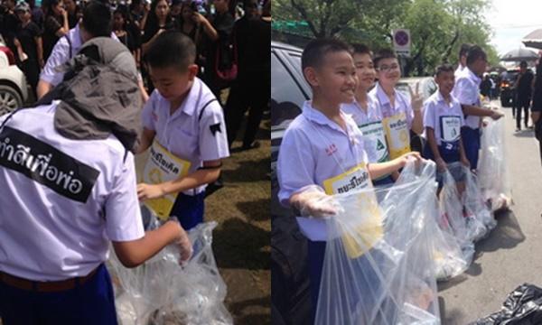 คลิป ของ อ้น : นักเรียนและลูกเสือกองร้อยพิเศษโรงเรียนอัสสัมชัญ ร่วมกันทำความดีเพื่อพ่อ