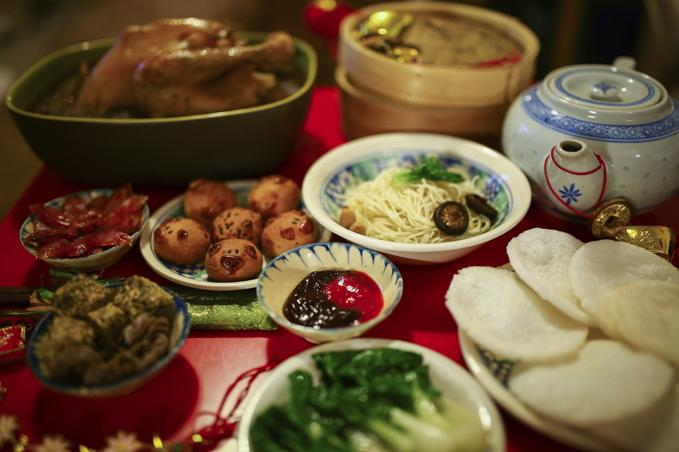 ตรุษจีน อาหาร ไหว้เจ้า