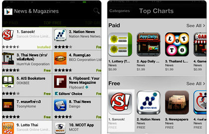 Sanook! Application โดนใจผู้ใช้งานสมาร์ทโฟน ขึ้นอันดับหนึ่งทั้ง 2 App Store