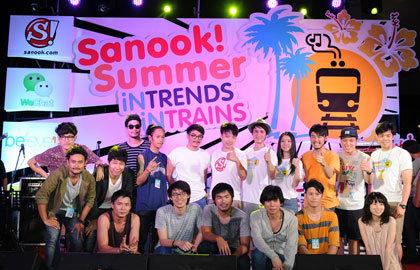 Sanook.com ชวนคลายร้อนไปกับขบวนความสนุก และมินิคอนเสิร์ตสุดมันส์ จัดเต็ม Sanook! Summer iN TRENDS iN TRAINS
