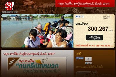 รวมน้ำใจร่วมช่วยเหลือผู้ประสบภัยน้ำท่วม - ดินถล่ม กับ www.sanook.com