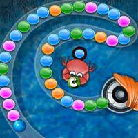 เกมส์ยิงลูกบอล crab hunt