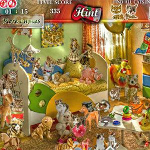 เกมส์หาของ cats room hidden object