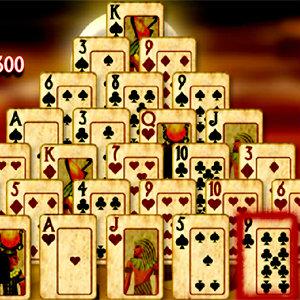เกมส์เรียงเพชร pyramid solitaire mummys curse