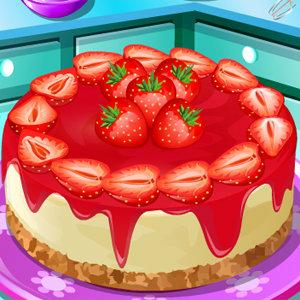 เกมส์ทำเค้ก Strawberry Cheesecake