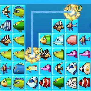 เกมส์จับคู่ Magic Fish Matching