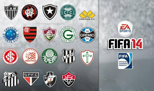 FIFA 14 ได้ลิขสิทธิ์บอลลีกบราซิลเพิ่ม 19 ทีม