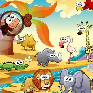 เกมส์แต่งหน้า เกมส์หาเลขในสวนสัตว์