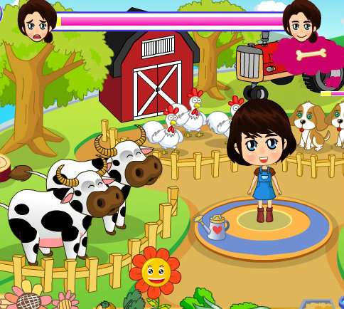 เกมส์จับคู่ เกมส์ฟาร์มเลี้ยงวัวหรรษา