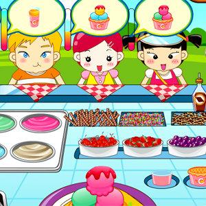 เกมส์ทำเค้ก เกมส์ขายไอศกรีมให้เด็กๆ