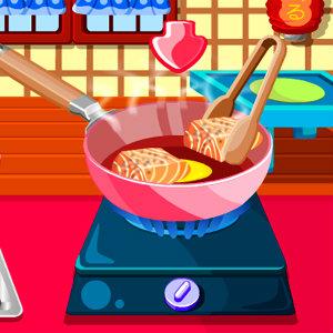 เกมส์ทำอาหาร เกมส์ทำแซลมอนเทอริยากิ