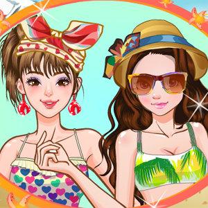 เกมส์แต่งตัว เกมส์แต่งตัวสองสาวไปทะเล
