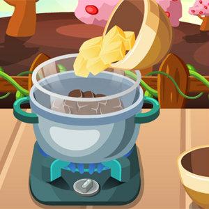 เกมส์ทำอาหาร ทำเค้กส้มเคลือบช็อคโกแลต
