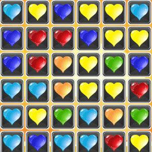 เกมส์จับคู่ เกมส์จับคู่ ดวงใจหลากสี