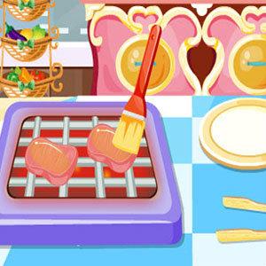 เกมส์ทำอาหาร เกมส์ทำอาหาร Pork Chops With Broccoli