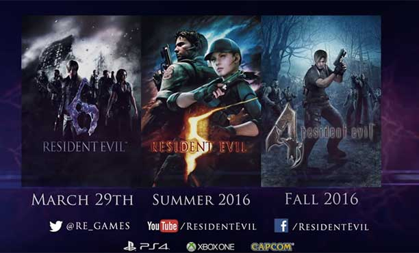 ขอขายอีกรอบ! Capcom นำ Resident Evil 4,5,6 ลง PS4 และ Xbox one