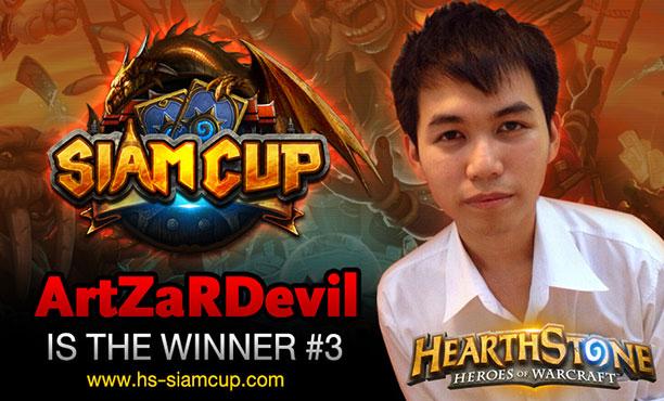 ArtZaRDevil เก๋าจริง! คว้าแชมป์ Hearthstone Siam Cup ครั้งที่ 3 ไปครอง