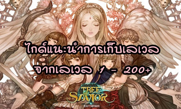Tree of Savior ไกด์แนะนำการเก็บเลเวลตั้งแต่เลเวล 1 - 200 อัพ จากมือใหม่ สู่เทพแห่งโลกต้นไม้