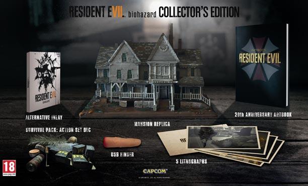 เผยโฉมชุดสะสมซีรีย์สยองขวัญ Resident Evil 7 Biohazard
