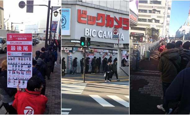 เกมเมอร์ญี่ปุ่นต่อคิว แห่ซื้อ Nintendo Switch ในวันแรก