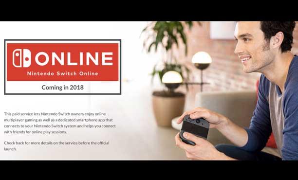 Nintendo Switch เผยค่าบริการออนไลน์ เริ่มเก็บปี 2018